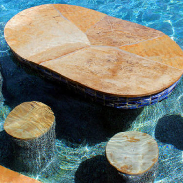 swimming pool bar stools and tables