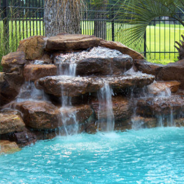 Custom Pool Water Features Waterfalls Gushers Jets