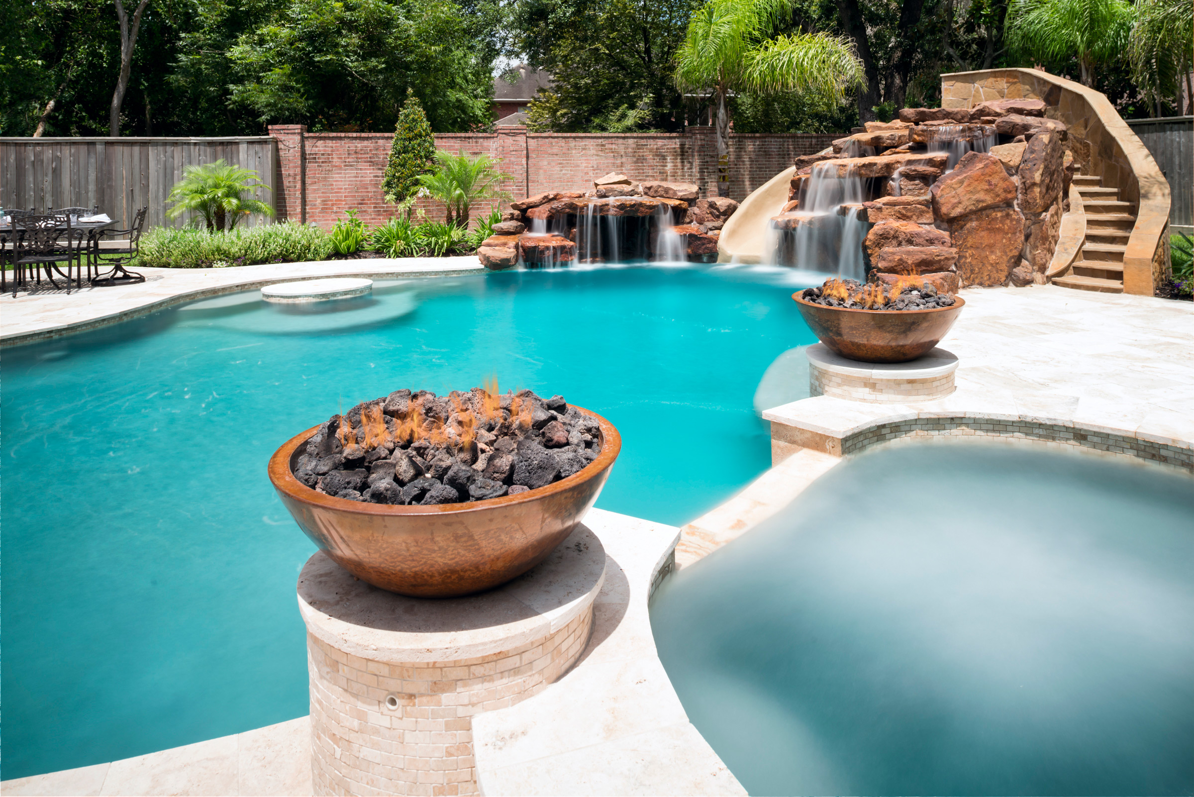 More About Water Features The Grotto Platinum Pools Houston Tx