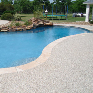 Hand Seeded P-Gravel Pool Decking