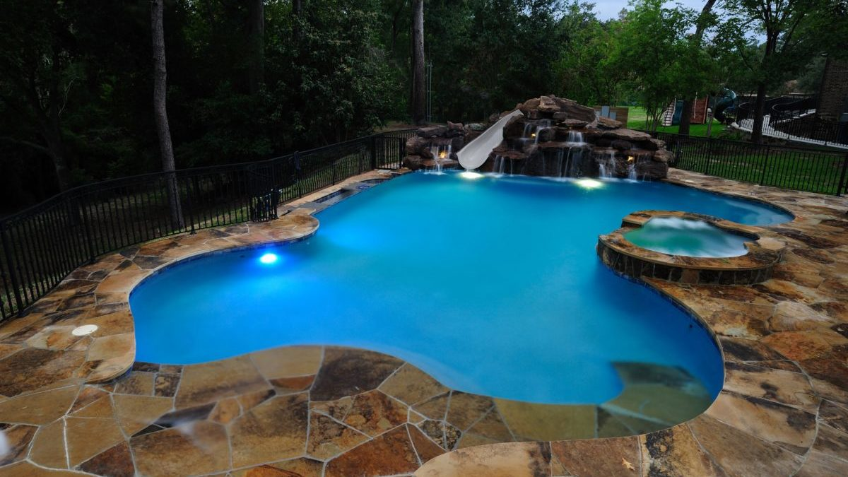 Custom Backyard Pools in College Station