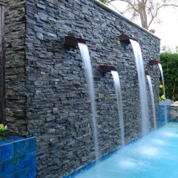 Custom Pool Water Features Waterfalls Gushers Jets Platinum Pools